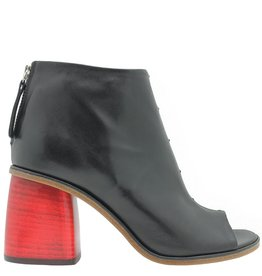 Halmanera Halmanera Black /Red Heel Ankle Boot Paola