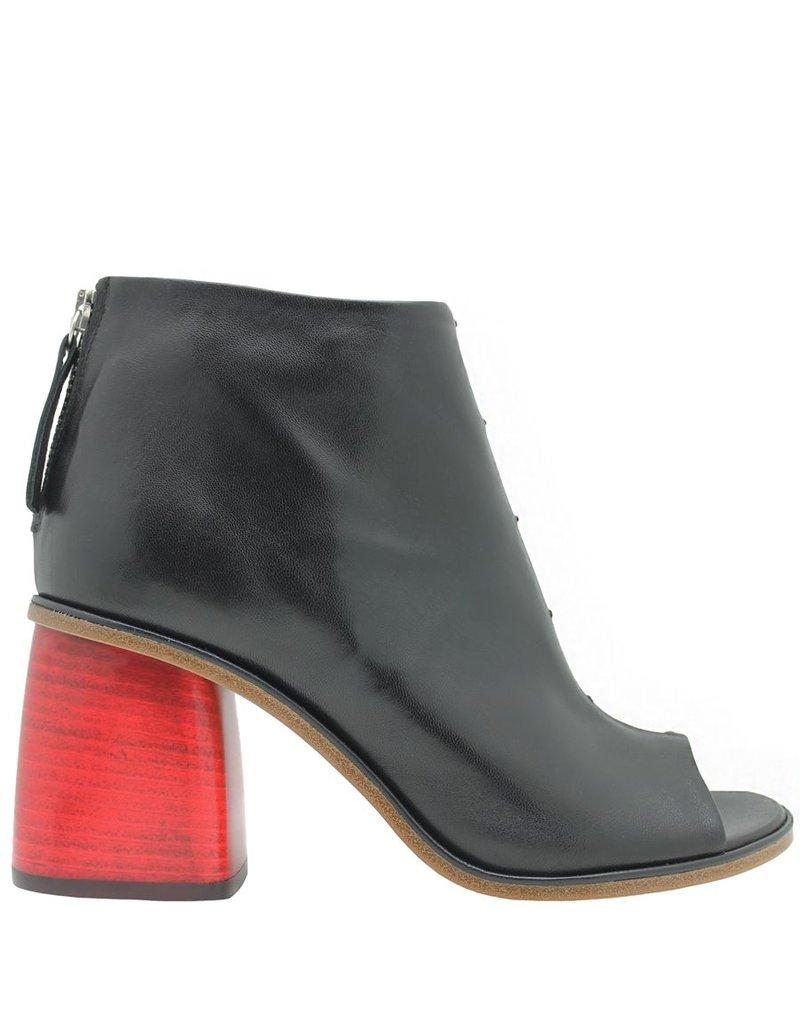 Halmanera Halmanera Black /Red Heel Ankle Boot Paola