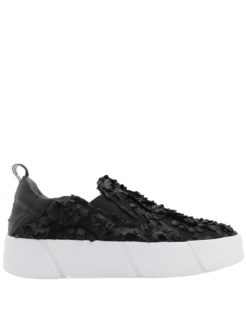Elena Iachi ElenaIachi Black Flower Slip-On Tennis 1710