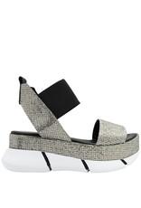 Elena Iachi ElenaIachi Silver Glitter Sandal 1791