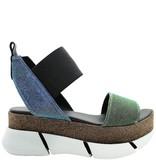 Elena Iachi ElenaIachi Green Multi Glitter Sandal 1791