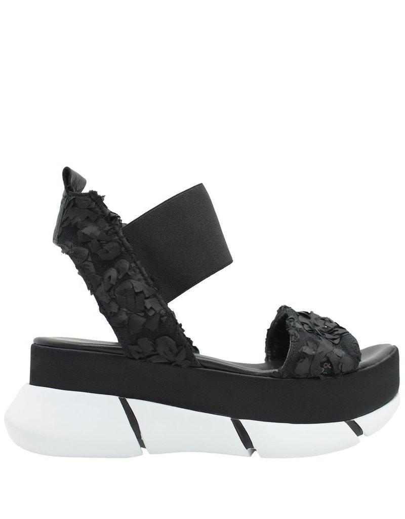 Elena Iachi ElenaIachi  Black Flower Banded Sandal 1792