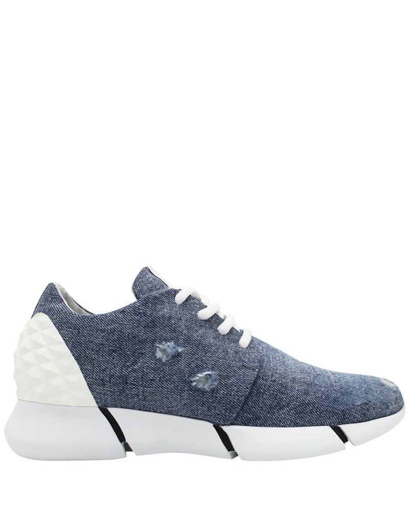 Elena Iachi ElenaIachi Denim Lace-Up Tennis 1794