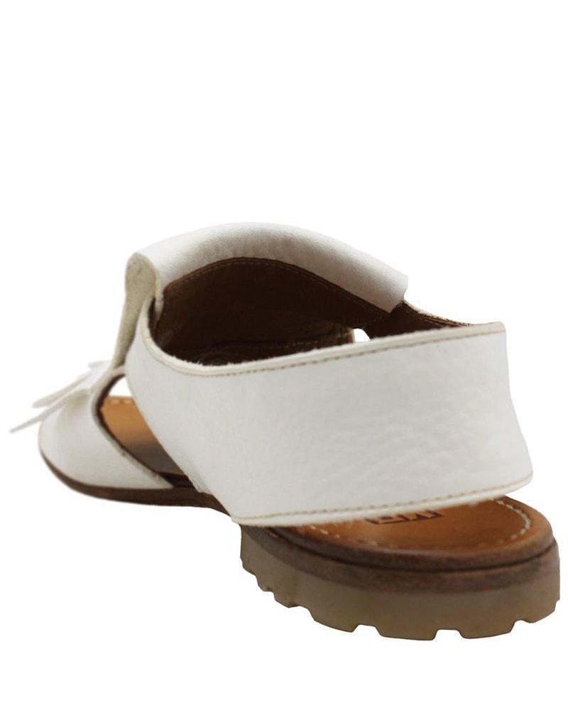 Moma Moma White Kiltie Comfort Sandal 4272