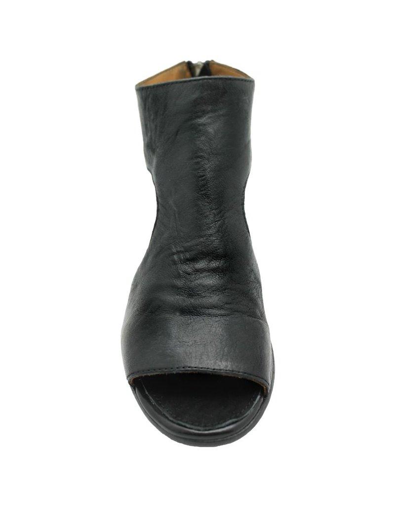 Moma Moma Black Open Side Back Zipper Sandal 4870
