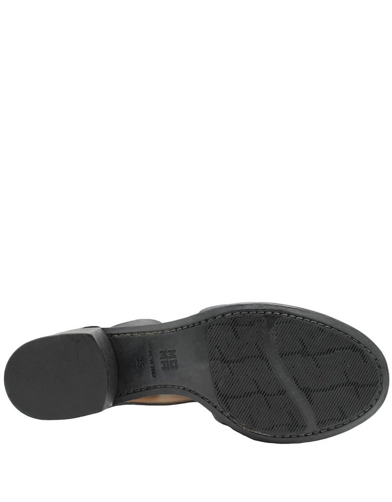 Moma Moma Black Open Side Back Zipper Sandal 4870