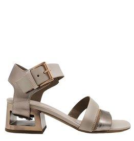VicMatie VicMatie Dusty Pink Block Heel Sandal 5156