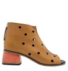 Halmanera Halmanera Tan Ankle Boot Papaya Heel Gilda