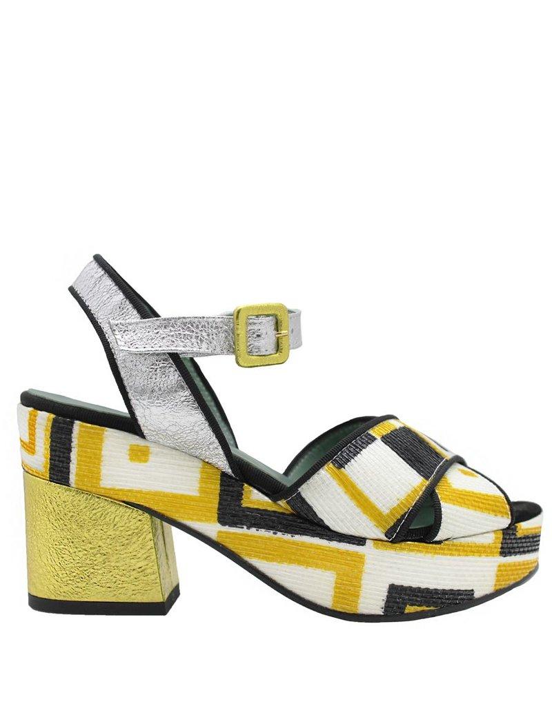 Paola d'Arcano Paola d'Arcano Metal Multi Platform Sandal 1625