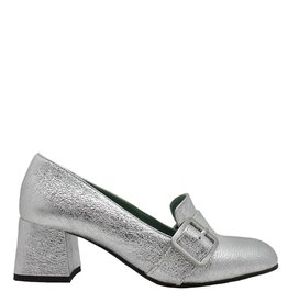 Paola d'Arcano Paola d'Arcano Silver Buckled Loafer 1628
