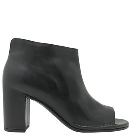 Del Carlo DelCarlo Black Nappa Open Toe Boot 1040