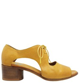 Moma Moma Yellow Lace-Up Sandal 4872