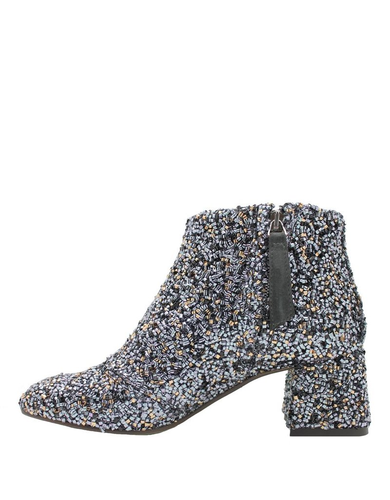 Paola d'Arcano Paola d'Arcano GunMetal Curly Ankle Boot 1494