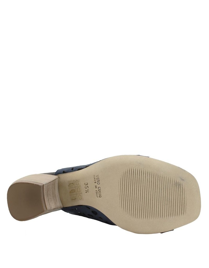 Ixos Ixos Blue Brown Laser Toe Wrap Sandal 2531