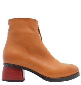 Halmanera Halmanera Tan/Front Zipper Red Heel Positano