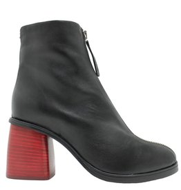 Halmanera Halmanera Black With Red Medium Heel Boot Ustice
