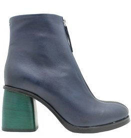 Halmanera Halmanera Blue With Geen Medium Heel Boot Ustice