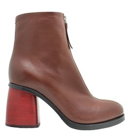 Halmanera Halmanera Brown With Red Medium Heel Boot Ustice