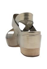 Del Carlo DelCarlo Gold Asymmetric Platform Sandal 1013