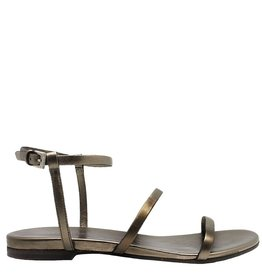 Del Carlo DelCarlo Gold Strap Flat Sandal 1039
