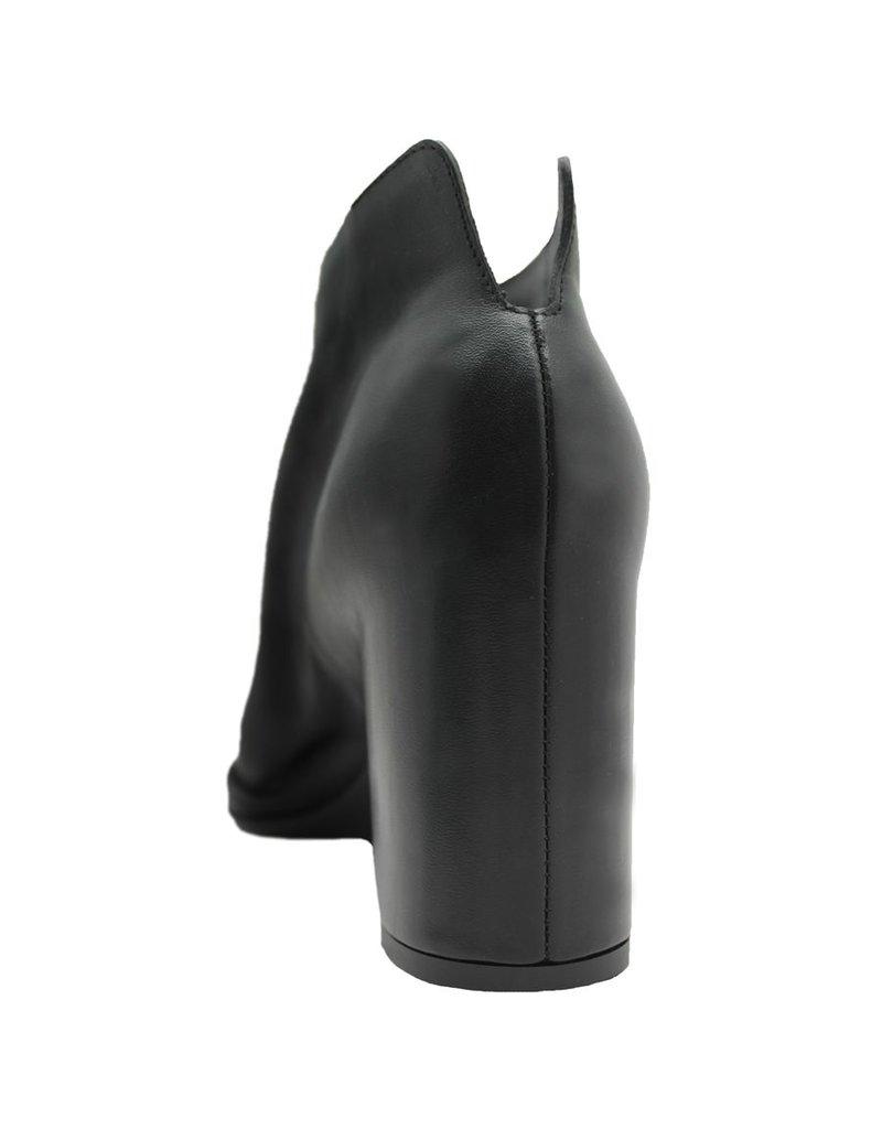 Del Carlo DelCarlo Black Nappa Open Toe Boot 1040