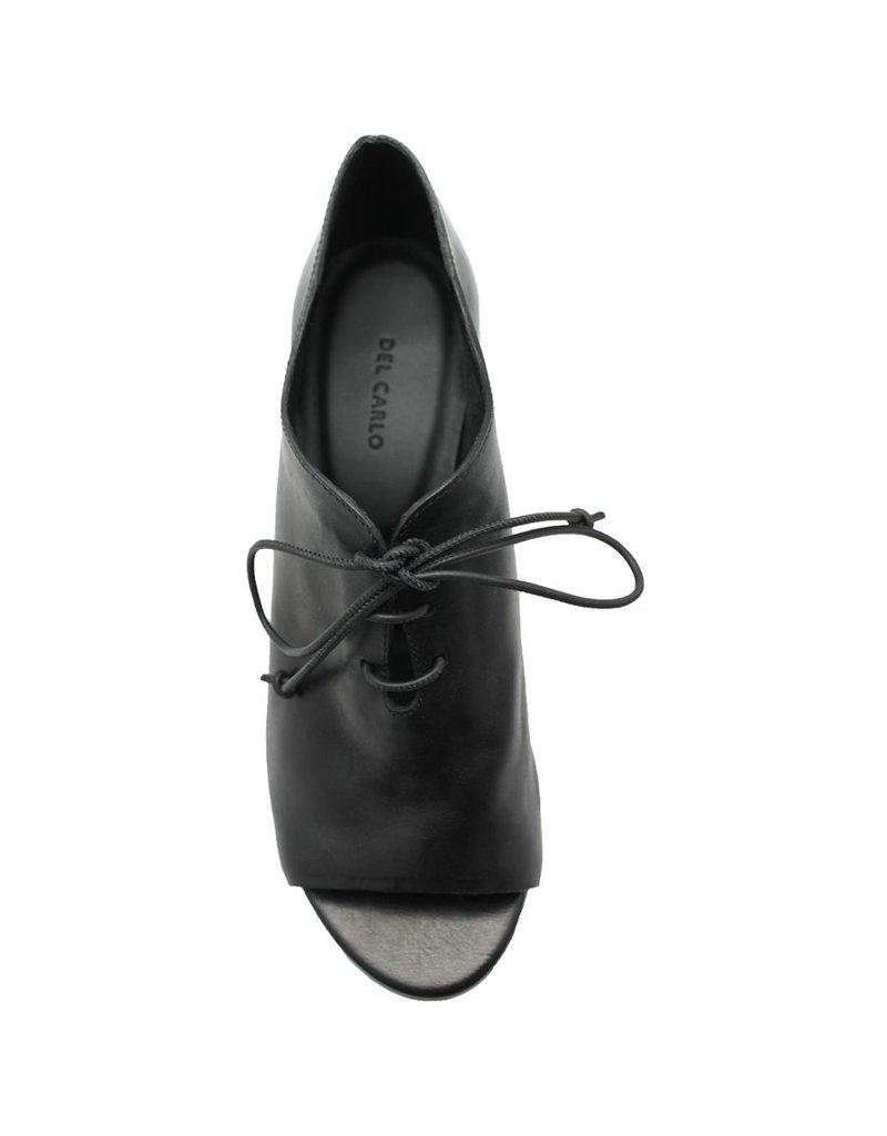 Del Carlo DelCarlo Black Open Toe Oxford 1043