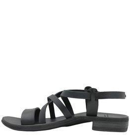 Officine Creative OfficineCreative Black Flat Buckled Sandals Ida