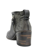 Moma Moma Black Ankle High 2-Zipper Bootie 2603