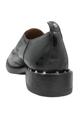 Moma Moma Black Distressed Patent Oxford With Nails 2609
