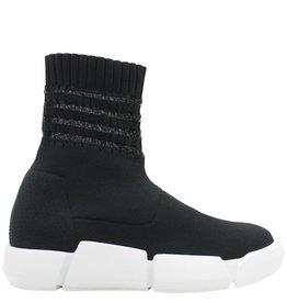 Elena Iachi ElenaIachi  Black Textile Sock Tennis Shoe 1312