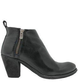 Officine Creative OfficineCreative Black 2-Zipper Ankle Boot Luck