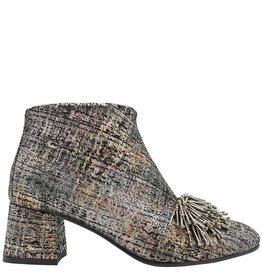 Paola d'Arcano Paola d'Arcano Silver Ankle Boot With Nail Detail 8447