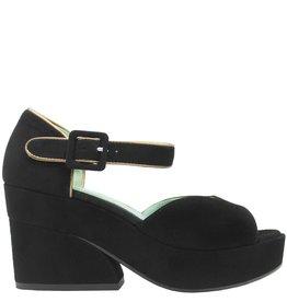 Paola d'Arcano Paola d'Arcano Black Suede Platform Sandal 8512