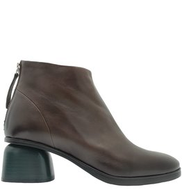 Halmanera Halmanera Brown Boot Low Green Heel Back Zipper Ertz