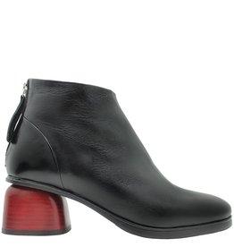 Halmanera Halmanera Black Boot Back Zipper Red Heel Ertz
