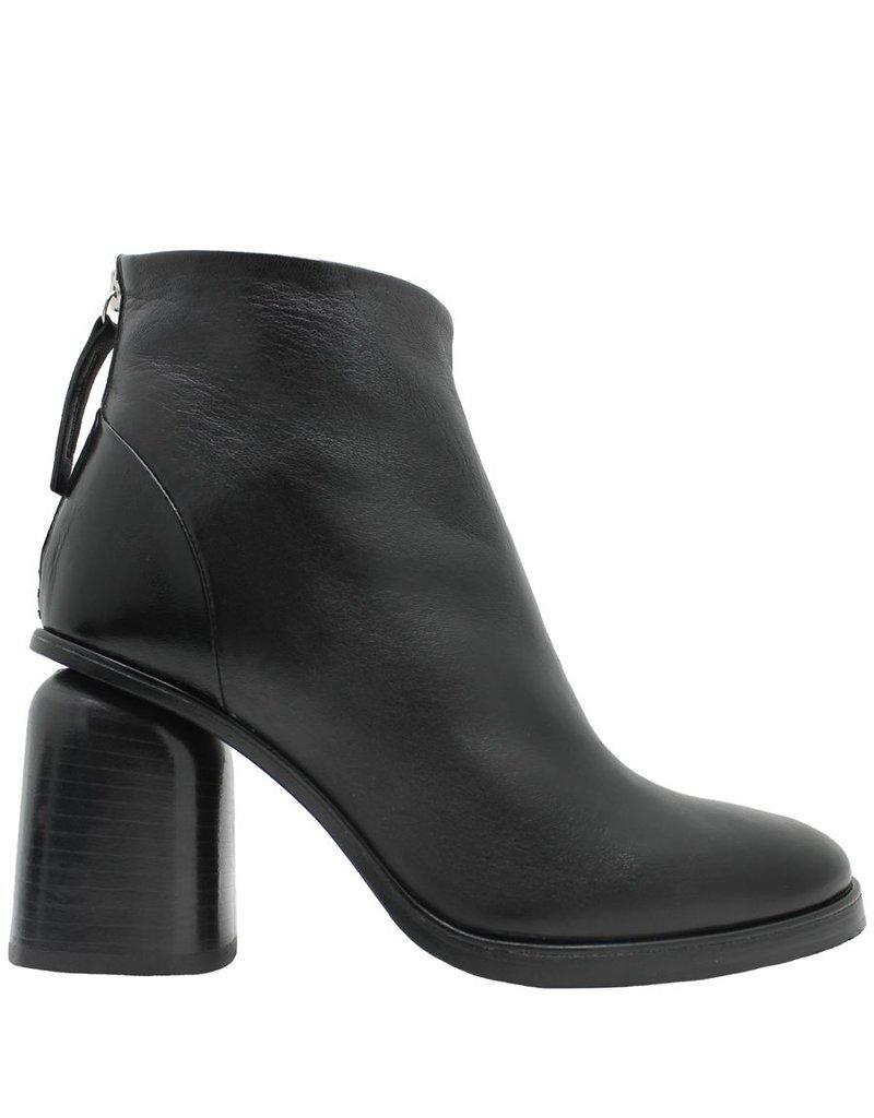 Halmanera Halmanera Black Ankle Boot Back Zipper Long