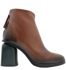Halmanera Halmanera Camel Ankle Boot Back Zipper Green Heel Long