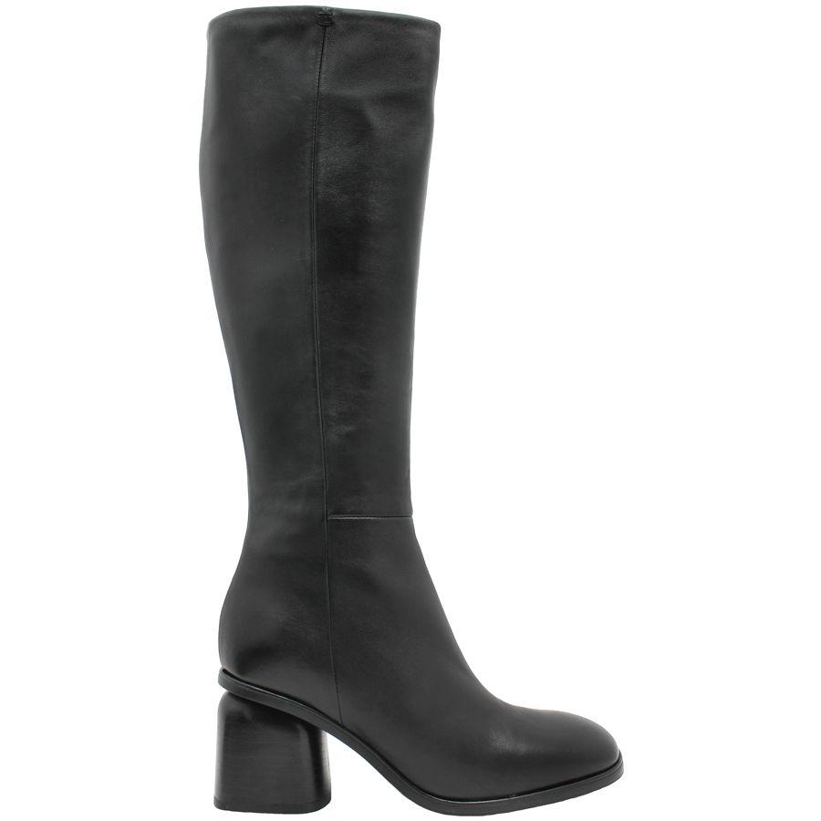 Halmanera Halmanera Black Knee Boot Square Toe Peters