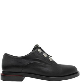 Halmanera Halmanera Black Flat Button Detail And Zipper Treggs