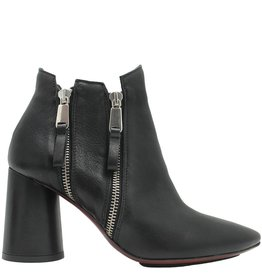 Ixos Ixos Black Vertical Zipper Ankle Boot 1011