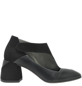 Ixos Ixos Black Suede MaryJane Square Toe 1016