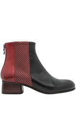 Ink Ink Red With Textile Black Vamp Ankle Boot 1414