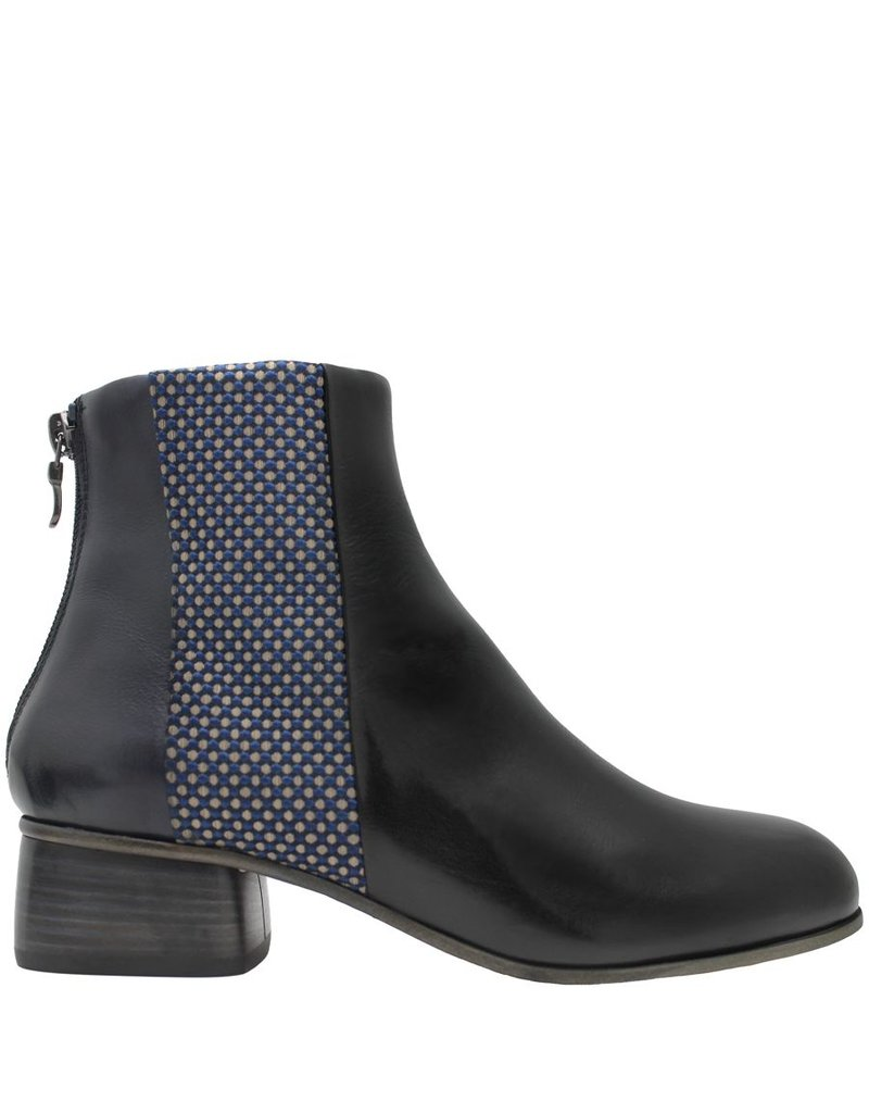 Ink Ink Blue With Textile Black Vamp Ankle Boot 1414