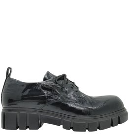 Now Now Black Crinkle Patent Oxford Tread Sole 4208