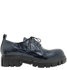 Now Now Blue Crinkle Patent Oxford Tread Sole 4208