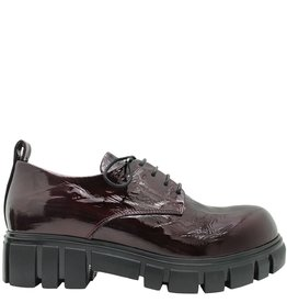 Now Now Bordo Crinkle Patent Oxford Tread Sole 4208