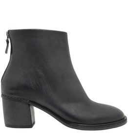 Del Carlo DelCarlo Black Back Zipper Ankle Boot Low Heel 4110