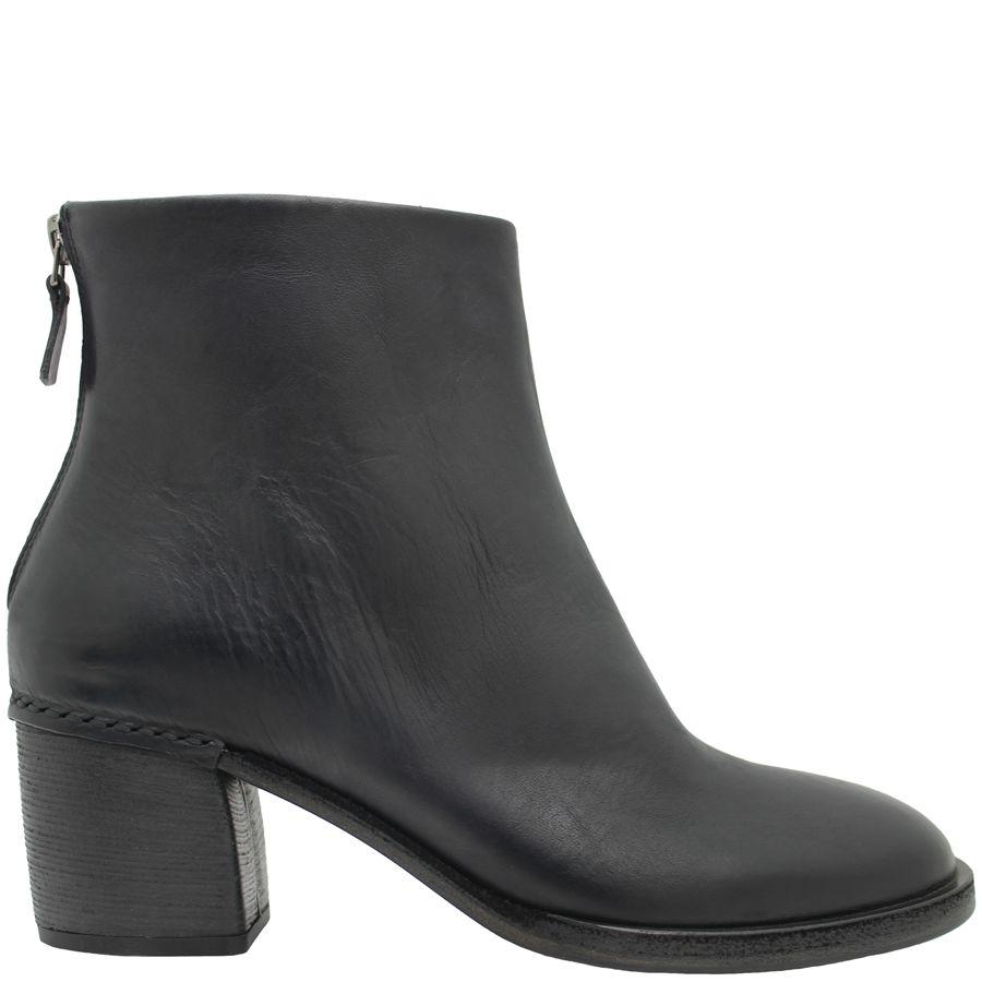 Del Carlo DelCarlo Black Back Zipper Ankle Boot Low Heel 4110