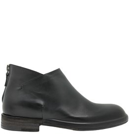 Del Carlo DelCarlo Black Flat Ankle Boot Back Zipper 2020