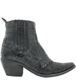 Fauzian Jeunesse FauzianJeunesse Black Croco Pointed Western Boot 1938